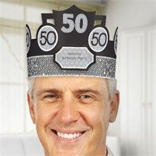 Fun 50th Birthday Party Hat - And it's customizable!