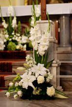 dekoracja kościoła tania Floral Arrangements, Easter, Table Decorations, Flowers, Plants, Diy, Home Decor, Flower Arrangements, Gladioli