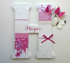 """Jumbo 18"""" Baltic Birch Wooden Personalized Name Custom Initial Letters for Nursery, Kid's orTeen's room"""