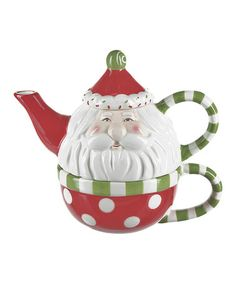 Take a look at this Sweet Santa Tea-for-One Set by GANZ on #zulily today!