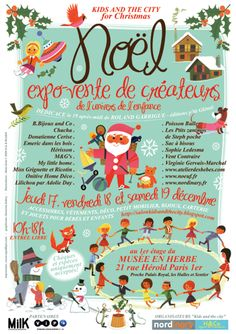 Poster Kids and the City for Christmas / Alain Grée