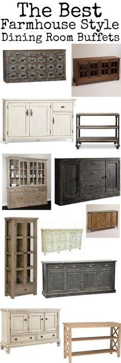 The best farmhouse style dining room buffets - A great source for cottage style & farmhouse style furniture!