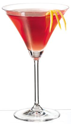 PAMA Ginger-tini Cocktail - Photo Courtesy of: © PAMA Pomegranate Liqueur