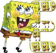 Abc spongebob X Alphabet Letters Design, Cute Letters, Alphabet And Numbers, Alphabet Fonts, Preschool Letters, Preschool Crafts, Pineapple Under The Sea, 9th Birthday Parties, Under The Sea Theme
