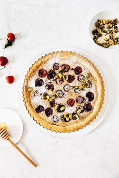 cherry frangipane tart | hummingbird high || a desserts and baking blog