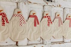 snowman  table runner...also good for use with young children....