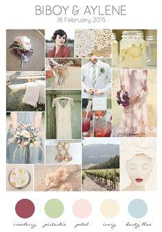 Biboy and Aylene's chill farm inspired wedding moodboard of berries, nuts and dusty colours // Chilli Farm Romance: Biboy and Aylene's Wedding