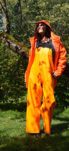 Pictures Of People, Helly Hansen, Rain Wear, Orange, Yellow, Overalls, Raincoat, Suits, Jackets