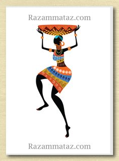 African Woman Greeting Card G