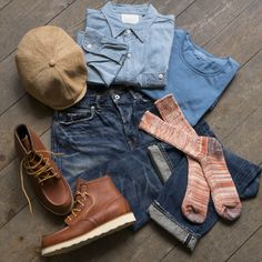 Son of a Stag is the UKs leading mens jeans store, carrying a huge choice of rare Japanese and American brands. Moc Toe Boots Men, Stag Outfits, Ps Wallpaper, Army Shirts, Jeans Store, Rugged Style, Washed Denim, Flat Cap, Red Wing