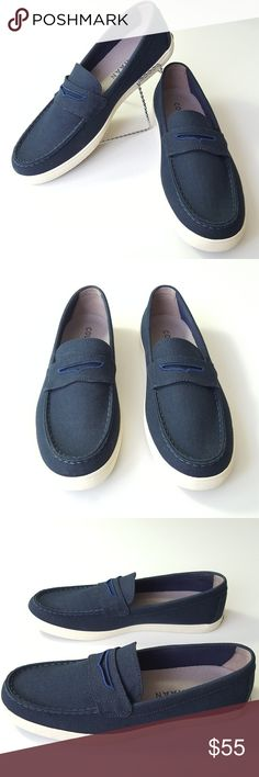 ♂ NWOTCOLE HAAN mens penny loafer navy canvas Cole Haan Hyannis Penny Loafer II Navy Blue Canvas C25763   If you don't know the history of the penny loafer, look it up. You could be wearing an iconic piece of fashion history.   ✔ Select your size below to purchase  ✔ 100% authentic, brand new and never worn  ✔ Shoe box not included  Check out my other Nike, Diesel, Under Armor, Ralph Lauren, Burberry, J Crew, Brooks Brothers, Cole Haan, Calvin Klein, Sperry, Michael Kors, and Lacoste items…