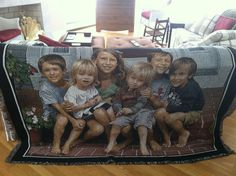 Need the Perfect gift idea for Grandma and Grandpa? Show how special they are with a personalized woven photo blanket of the Grandkids! They'll treasure it for a lifetime!