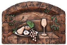 Popular Fruit Delight Backsplash Mural on Kitchen Creative Collection Metal Backsplash Murals Copper Backsplash, Kitchen Backsplash, Best Wall Colors, Open Kitchen Layouts, Traditional Tile, Tuscan Design, Copper Accents, Copper Kitchen, Cool Walls