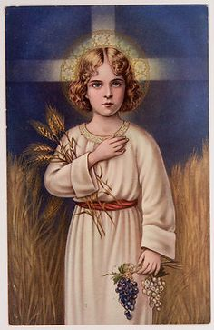 Antique Holy Card Christ Child