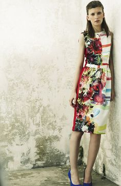 Preen, Resort 2013. Love the contrast/fade of floral and graphics.