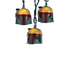 The Jolly Christmas Shop - Kurt Adler Star Wars Boba Fett Light String, $28.99 (http://www.thejollychristmasshop.com/kurt-adler-star-wars-boba-fett-light-string/)