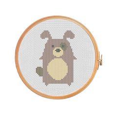 Funny dog cross stitch pattern, dog cross stitch pattern, modern cross stitch pattern