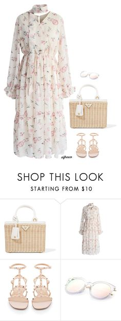 """""""Untitled #343"""" by anaalex ❤ liked on Polyvore featuring Prada, Chicwish, Valentino and alfrescodining"""