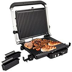 """Grundig 1805301U 120 sq.in 12x10"""" Electric Home Kitchen Contact Countertop Grill Vacuum Cleaner Price Kitchen Tops, Small Kitchen Appliances, Kitchen Small, Kitchen Utensils, Kitchen Dining, Indoor Outdoor Grill, Appliance Reviews, Best Electric Pressure Cooker, Best Charcoal Grill"""