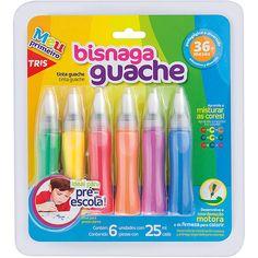 Tinta Guache Bisnaga 6 Cores - Tris