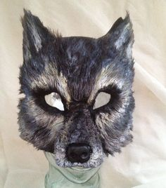 Big Bad Gray Wolf Mask by FemaleArtCollective on Etsy, $54.00: