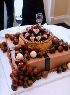 I like the groom styled chic strawberries.  Dessert table?  Cocktail hour?