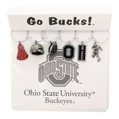 Wine Things Unlimited Ohio State Buckeyes Wine Glass Charms -I'd love to make some of these