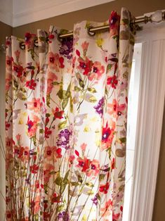 Sewing Curtains DIY Network shares ideas and instructions for creating and upgrading curtains, shades, blinds and more. - DIY Network shares ideas and instructions for creating and upgrading curtains, shades, blinds and more. Curtains Without Sewing, No Sew Curtains, Drop Cloth Curtains, Boho Curtains, How To Make Curtains, Rod Pocket Curtains, Grommet Curtains, Window Curtains, Shower Curtains