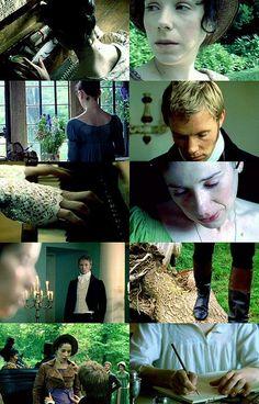 Screen caps - Sally Hawkins (Anne Elliot) & Rupert Penry-Jones (Captain Frederick Wentworth) - Persuasion (TV Movie, BBC, 2007) #janeausten