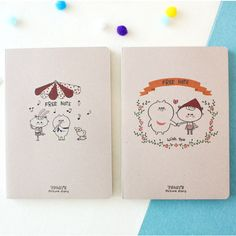 N.IVY Today's picture eco friendly plain notebook - fallindesign