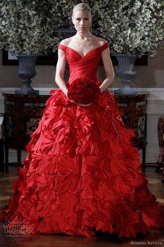 romona keveza couture <b>red</b> <b>wedding</b> <b>dress</b>