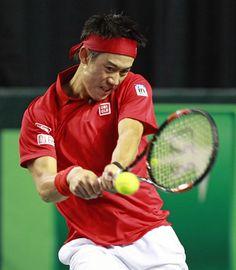 Kei Nishikori Photos - Davis Cup: Canada v Japan - Day 3 - Zimbio