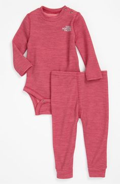 The North Face 'Baselayer' Bodysuit & Leggings (Infant) available at #Nordstrom Gotta get this too :)