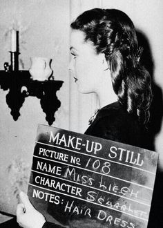 gwtw wardrobe test, spelled her name wrong