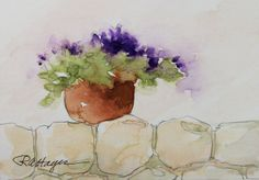 "watercolor paintings of lavender | Day #6 of ""30 Paintings in 30 Days"""