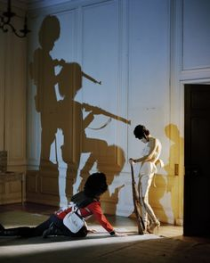 Malgosia Bela & her shadow soldiers, Glemham Hall, Suffolk, UK, 2009, Italian Vogue