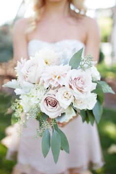 pink and green bridal bouquet - LOVE but with some purple and not pinks