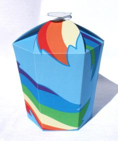 My Little Pony  Inspired Rainbow Dash LARGE Gift Box by Shnookers, $5.00