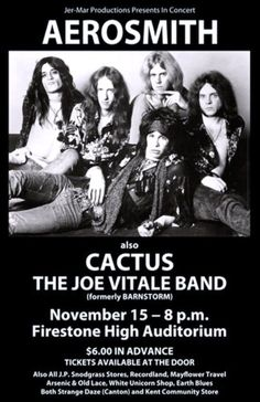 Nov. 15, 1974, with opening acts Cactus and the Joe Vitale Band.
