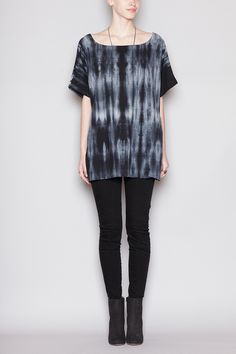 Normally, I don't like tie-dyed anything, but...THIS I would wear! Totokaelo - UZI - Tie Dye Kimono Top - Black