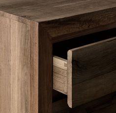 RH's Reclaimed Russian Oak 5-drawer Narrow Dresser:Handcrafted of solid…