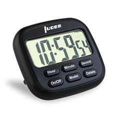 LUOEM Digital Kitchen Timer 24 Hours Magnetic Timer with Large LCD Display and Alarm Loud Ring Timer