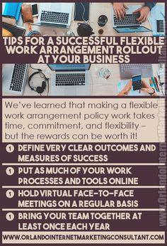 Four Tips for Rolling Out a Flexible Work Arrangement Policy at Your Business