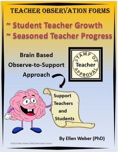 Teachers and students deserve support and observations create a perfect opportunity to do just that! This brain based guide for veteran teachers, student teachers and supervisors offers a form to discuss lessons with meaningful input to benefit students.  Both novice and expert teachers enjoy a series of growth prompts to know and be known, as they brainstorm what works and what to change.