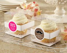 Cupcake Boxes -Set of 12 (Birthday Personalization Designs Available)