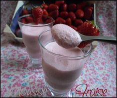 Mousse fraise - mon royaume weight-watchers