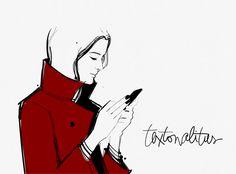 garance dore textonalities phone communication text illustration
