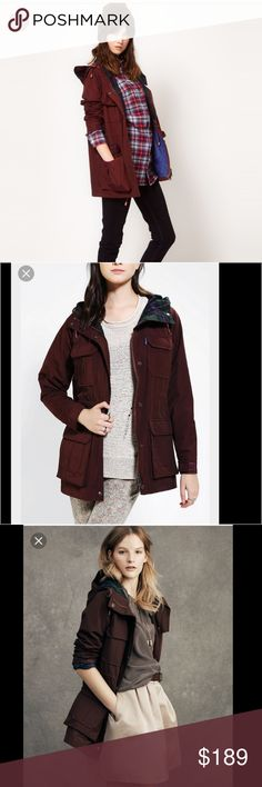 NEw penfield x Madewell kasson jacket coat wine Sz Small  Retail $200 New with tags    Perfect layer for any season layer it up for summer festival days or take it on a camping trip in the fall-winter months. Effortless and rugged.   • Loose fit.  • Cotton/nylon.  • Dry clean.  • Import.  measurements.  Length 28' Madewell Jackets & Coats Utility Jackets