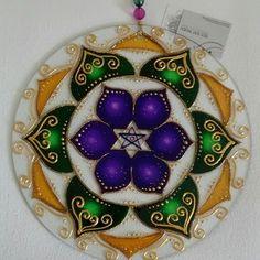 Mandala vitral YAVITH 30cm