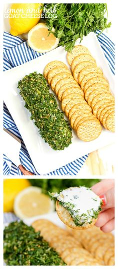 Lemon and Herb Goat Cheese Log - A light and refreshing appetizer that guests…